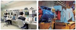 治療照射室/実験室へのビーム輸送のイメージです。
