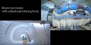 QST病院 重粒子線回転ガントリー治療室の紹介です。