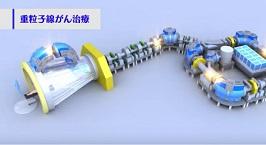 超小型・高性能の次世代重粒子線がん治療装置「量子メス」の紹介です。